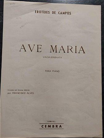 AVE MARIA - partitura para piano - Erotides de Campos