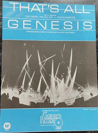 THAT´S ALL - partitura para piano, canto e cifras para violão - Tony Banks, Phil Collins e Mike Rutherford - Genesis