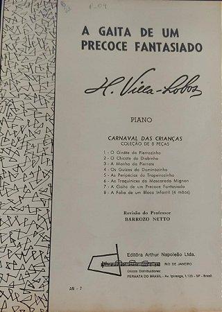 A GAITA DE UM PRECOCE FANTASIADO - partitura para piano - Villa Lobos