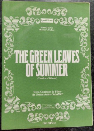 THE GREEN LEAVES OF SUMMER - partitura para piano solo - Dimitri Tiomkin e Paul Francis Webster