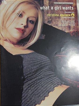 WHAT A GIRL WANTS - partitura para piano, vocal e cifras para violão - Christina Aguilera