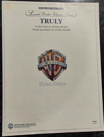 TRULY - partitura para piano e cifras para violão - Lionel Richie