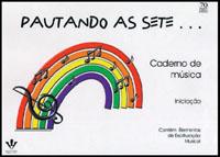 CADERNO DE MÚSICA - PAUTANDO AS SETE - CAPA FLEXÍVEL - ESPIRAL Pautas Grandes Para Musicalização
