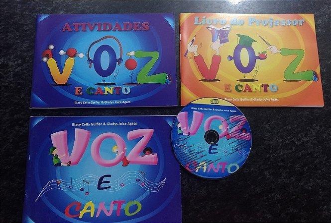 VOZ E CANTO – KIT 3 LIVROS + CD – Blacy Cella Gulfier & Gladys Joice Agacs