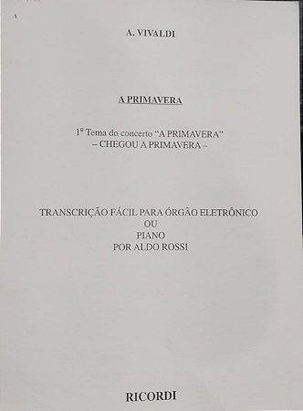 A PRIMAVERA - 1° Tema do concerto - transcrição fácil para piano ou órgão - Vivaldi