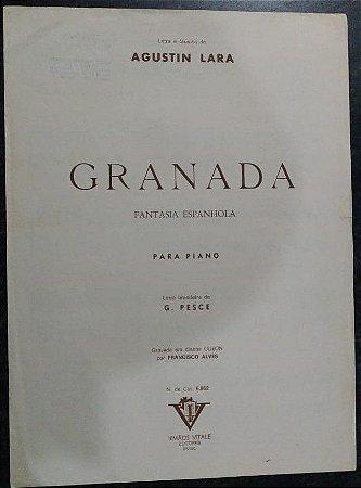 GRANADA - Partitura para piano solo - Agustin Lara (Gravada por Francisco Alves)