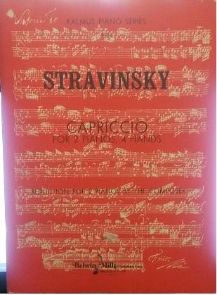 STRAVINSKY - CAPRICCIO - Stravinsky (4 mãos/2 pianos)