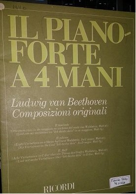 Sonata em Ré Maior opus 06 / 3 Marchas opus 45 - COMPOSIZIONI ORIGINALI IL PIANO FORTE a 4 MANI (4 MÃOS) 1° fascículo- Beethoven