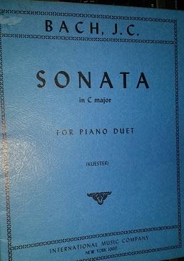 BACH - SONATA IN C MAJOR FOR PIANO DUET - Bach (4 MÃOS / 2 PIANOS)