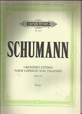 SCHUMANN - 6 KONZERT-ETUDEN NACH CAPRICEN VON PAGANINI - OP.10 - Schumann