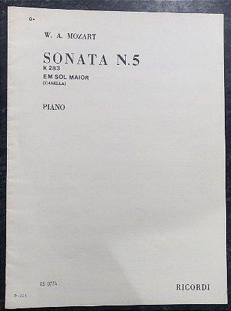 MOZART - SONATA n° 5 - K 283 - em SOL MAIOR - Revisão Casella