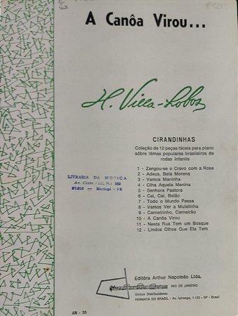 A CANÔA VIROU - partitura para piano - Villa Lobos