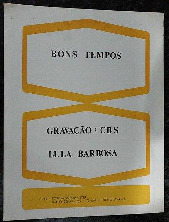 PARTITURA PARA PIANO: BONS TEMPOS - Lula Barbosa e Ari Marcos