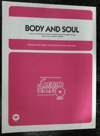 PARTITURA PARA PIANO: BODY AND SOUL - Johnny Grenn