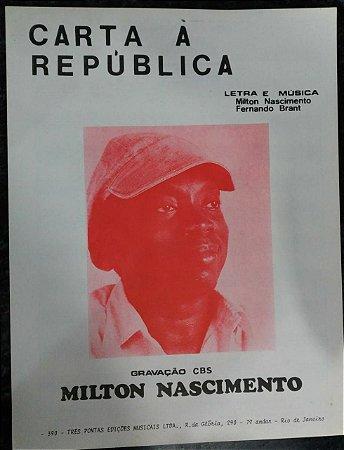 PARTITURA PARA PIANO: CARTA À REPÚBLICA - Milton Nascimento