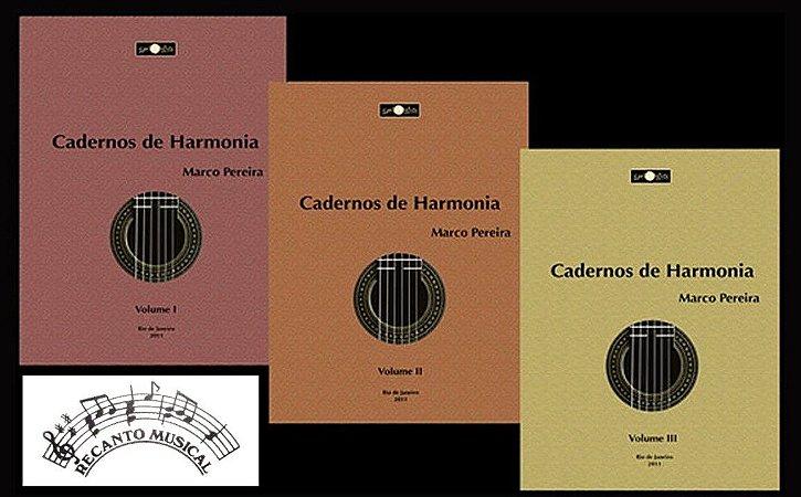 Cadernos de Harmonia Para Violão - KIT Vols. 1,2 e 3 - MARCO PEREIRA