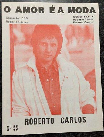 O AMOR É A MODA - partitura para piano solo - Roberto Carlos e Erasmo Carlos
