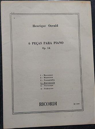 BARCAROLA - partitura para piano - Henrique Oswald