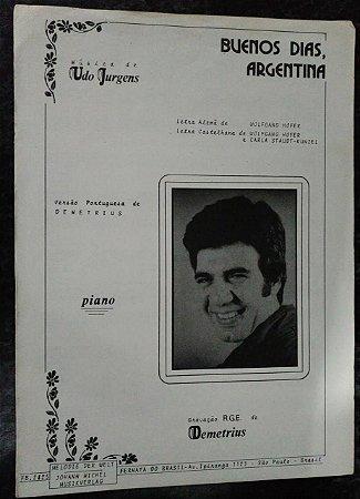 PARTITURA PARA PIANO: BUENOS DIAS, ARGENTINA - Demetrius