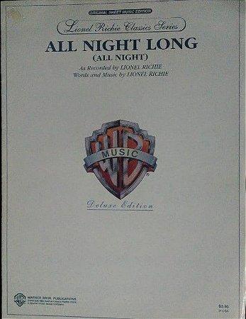 PARTITURA PARA PIANO: ALL NIGHT LONG - Lionel Richie