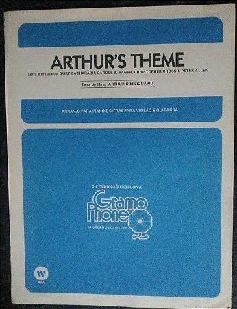 PARTITURA PARA PIANO: ARTHUR´S THEME - Burt Bacharach, Carole Sager, Christopher Cross e Peter Allen