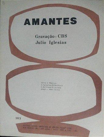 PARTITURA PARA PIANO: AMANTES - Julio Iglesias
