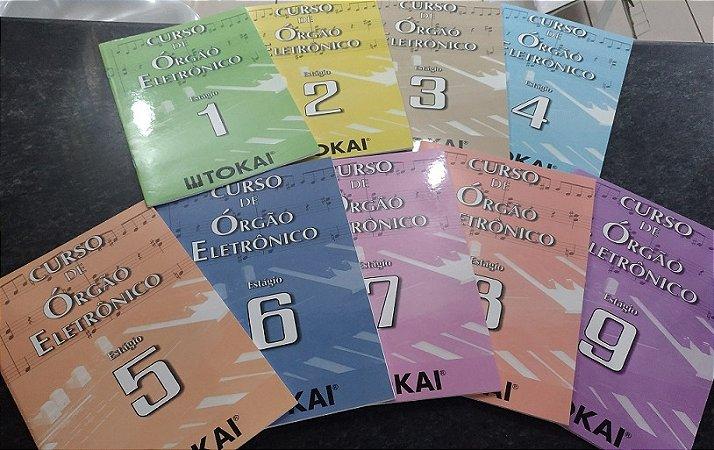 CURSO DE ÓRGÃO ELETRÔNICO – Kit composto de 9 livros - Tokai