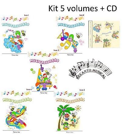 MUSICALIZAÇÃO Kit 5 volumes + CD – Tânia Vaz