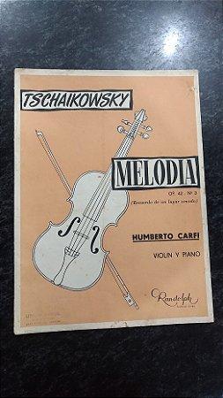 """MELODIA opus 42 n° 3 - """"Recuerdo de um lugar amado"""" - Tschaikowsky (violino e piano)"""
