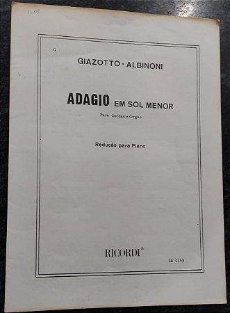 ADAGIO EM SOL MAIOR - partitura para piano - Remo Giazotto e Tomaso Albinoni
