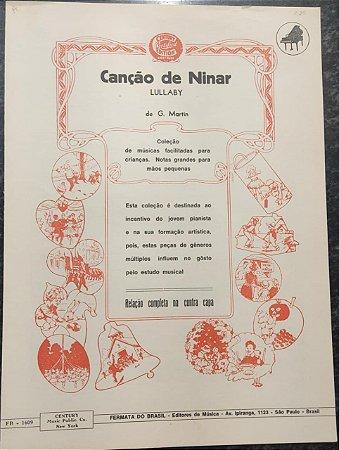 CANÇÃO DE NINAR - partitura para piano - G. Martin