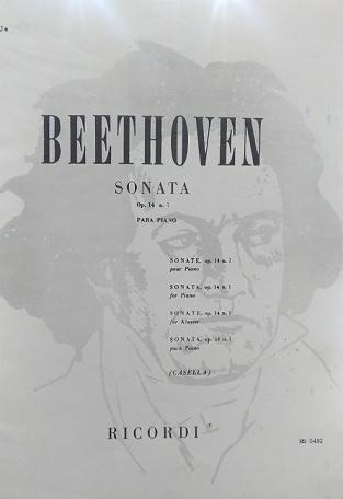 BEETHOVEN - SONATA OPUS 14 n° 1