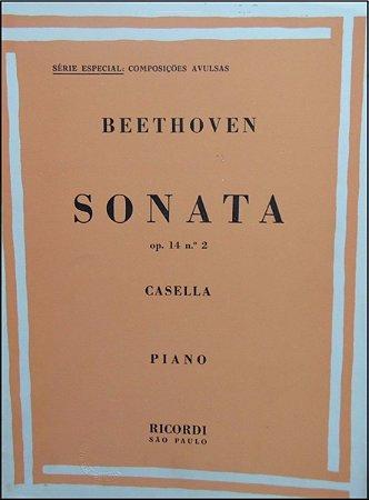 BEETHOVEN - SONATA Opus 14 n° 2 (Rev. Casella) Ed. Ricordi