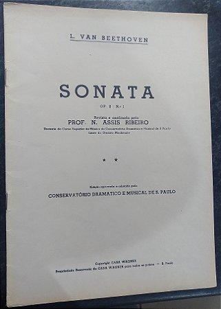 BEETHOVEN - SONATA Opus 02 n° 1 (Rev. Prof. N. Assis Ribeiro) Ed. Casa Wagner