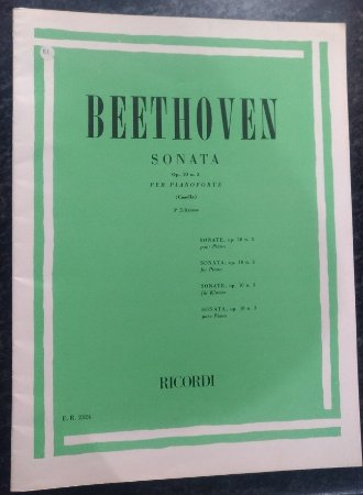 BEETHOVEN - SONATA Opus 10 n° 3 (Rev. Casella) Ed. Ricordi Italiana