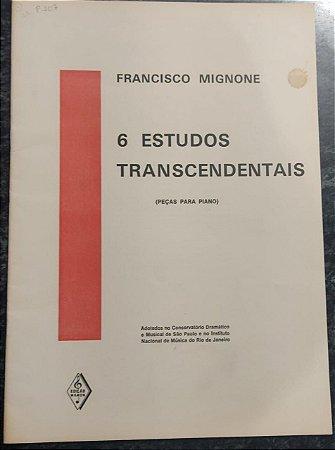 SEIS ESTUDOS TRANSCENDENTAIS - partitura para piano - Francisco Mignone