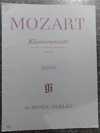 MOZART - SONATA KV 310 em Lá menor Edição original Henle Urtext