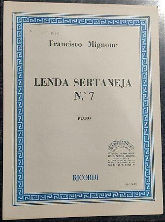 LENDA SERTANEJA N° 7 - partitura para piano - Francisco Mignone