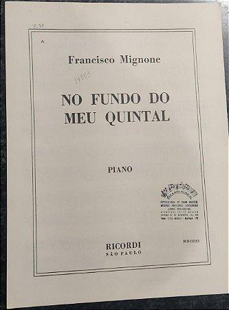 NO FUNDO DO MEU QUINTAL - partitura para piano - Francisco Mignone