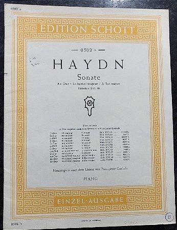 HAYDN - SONATA Lá Bemol Maior (0502 ½ Hoboken XVI: 46) Ed. Schott