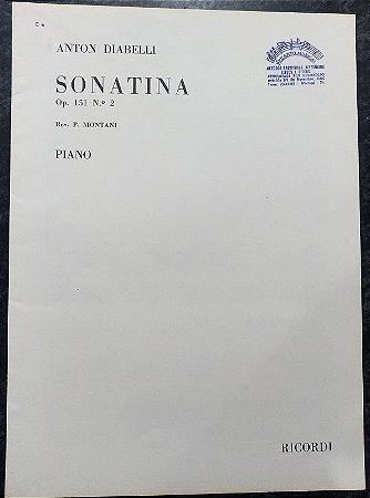 DIABELLI – SONATINA Opus 151 n° 2 (Rev.P. Montani) - Editora Ricordi