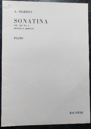 DIABELLI – SONATINA Opus 168 n° 2 (Rev.P. Montani) - Editora Ricordi