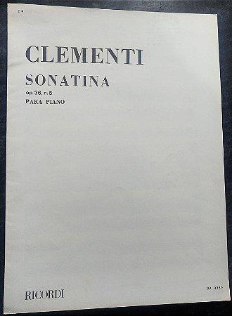 CLEMENTI – SONATINA OPUS 36 N° 5 – Editora Ricordi