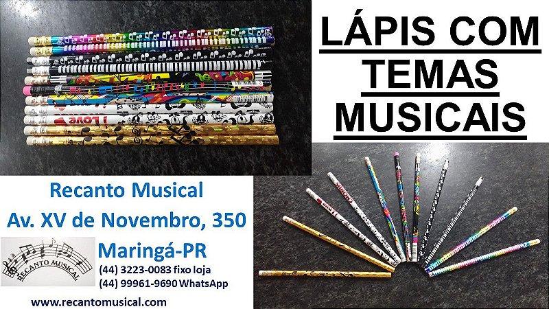 LÁPIS COM TEMAS MUSICAIS