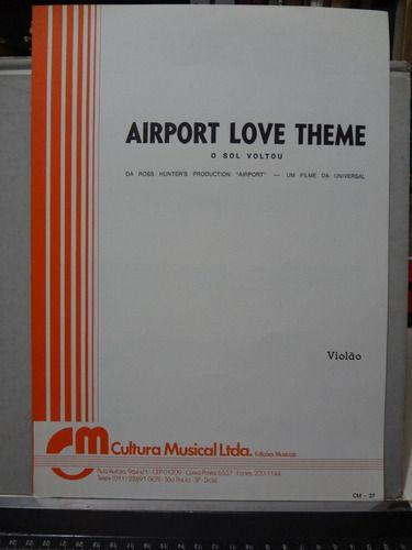 PARTITURA PARA VIOLÃO: AIRPORT LOVE THEME - O SOL VOLTOU - Alfred Newman