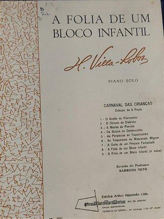 A FOLIA DE UM BLOCO INFANTIL - partitura para piano - Villa Lobos