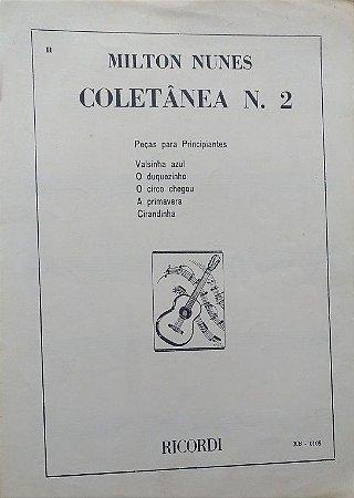 PARTITURA PARA VIOLÃO: COLETÂNEA N° 2 - Milton Nunes (Peças para principiantes)