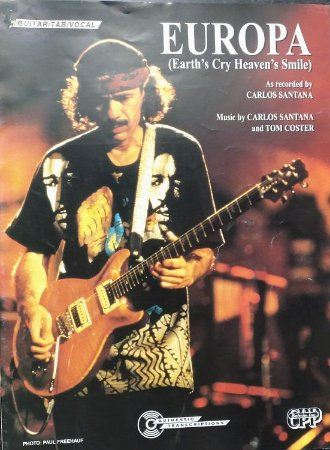 PARTITURA PARA VIOLÃO: EUROPA (Earth´s cry heaven´s smile) - Carlos Santana e Tom Coster