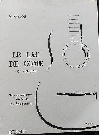 PARTITURA PARA VIOLÃO: LE LAC DE COME - G. Galos