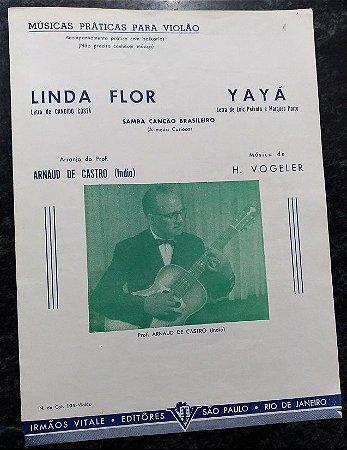 PARTITURA PARA VIOLÃO: LINDA FLOR e YAYÁ - H. Vogeler